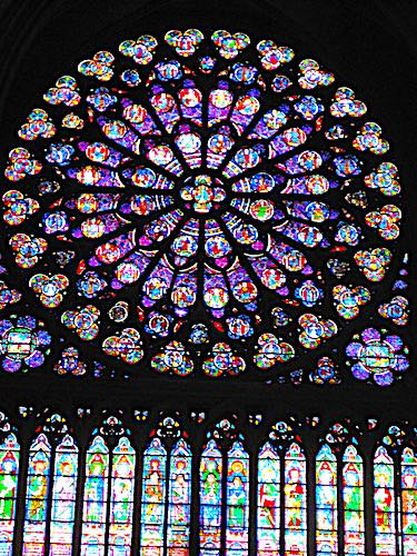 Notre Dame Cathedral - South rose window