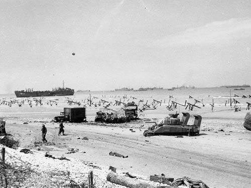 Omaha Beach in the afternoon of June 6, 1944