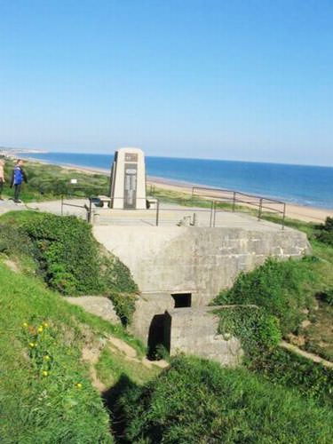 German fortifications on Omaha Beach
