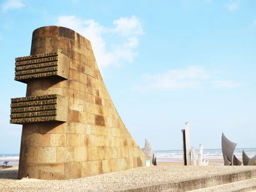 Liberation Monument on Omaha Beach