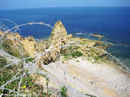 Pointe du Hoc and Beach where the assault started
