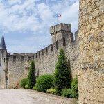 Sainte-Croix-du-Mont Castle in Premieres Cotes de Bordeaux area