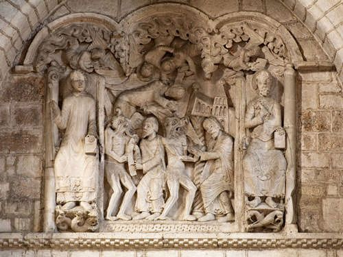 Souillac - Low-relief in Ste-Marie abbey church