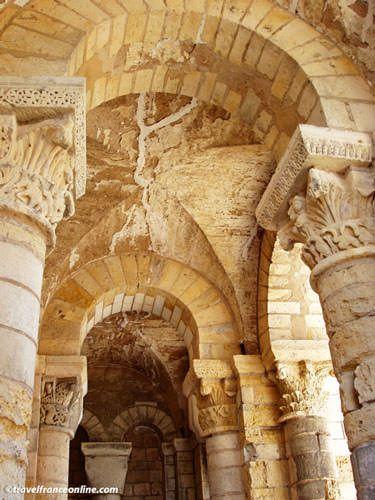 St Benoit sur Loire Church Romanesque porch