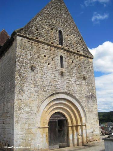St Martin Chapel Limeuil - Romanesque porch