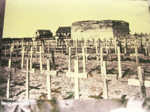 Tyne Cot Cemetery on Passchendaele Ridge in 1922