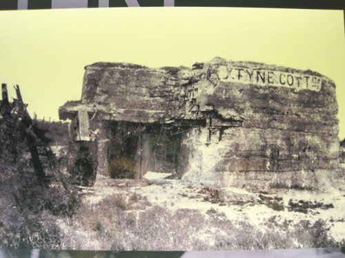 Tyne Cot Cemetery on Passchendaele - German pillbox after the warRidge