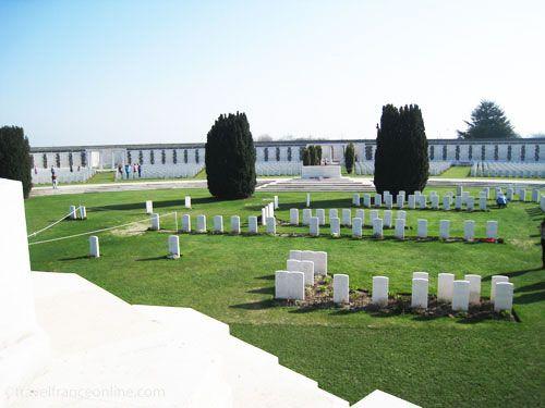 Tyne Cot Cemetery on Passchendaele Ridge - Original burials
