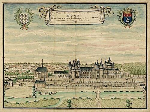 Usse Castle in 1669