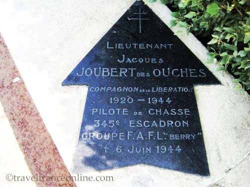 Utah Beach - Jacques Joubert des Ouches from the Free French Forces Memorial plaque