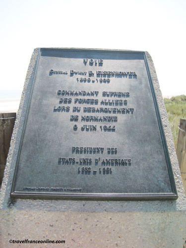 Utah Beach - Eisenhower Way Stele