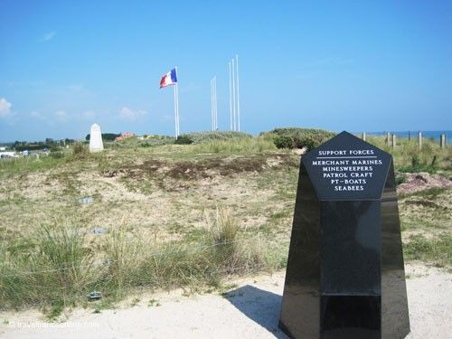 Utah Beach - Support Forces Commemorative Stone