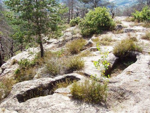 Visigoth graves in Vabres Abbaye