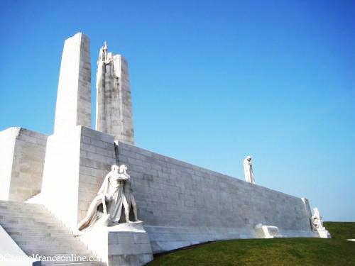 Vimy Ridge Canadian National Memorial facing the Plaine de Douai - Breaking of the Sword sculpture