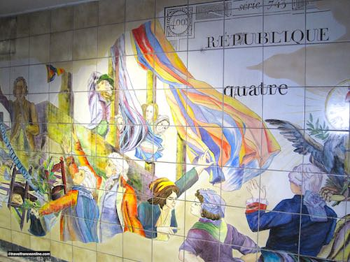 Bastille Metro station - The French Republique