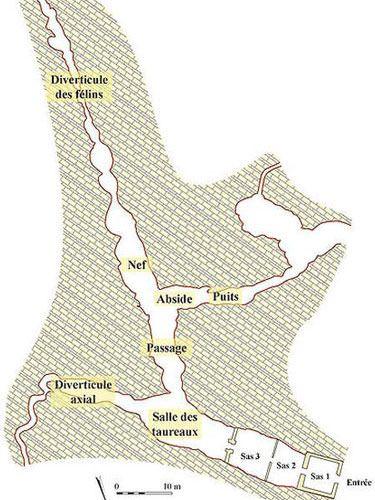Map of Lascaux Cave