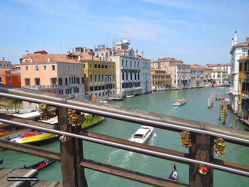 Love locks on Ponte de l'Academia in Venice