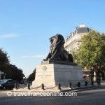 Lion de Belfort on Place Denfert Rochereau