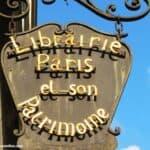 Shop signs in Paris - Bookshop