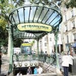 Art Nouveau Abbesses Metro Station entrance
