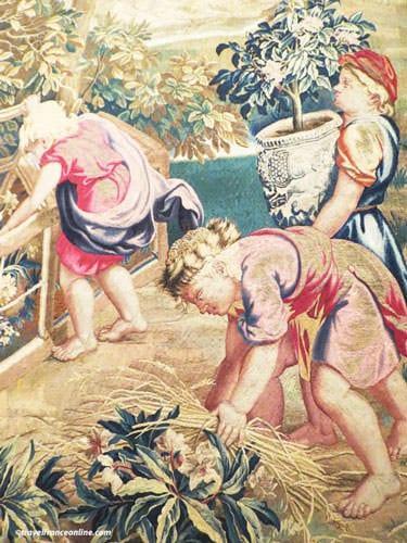Manufacture des Gobelins - Les Enfants Jardiniers by Charles le Brun 1685