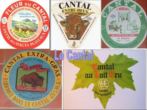 Cantal Cheese labels