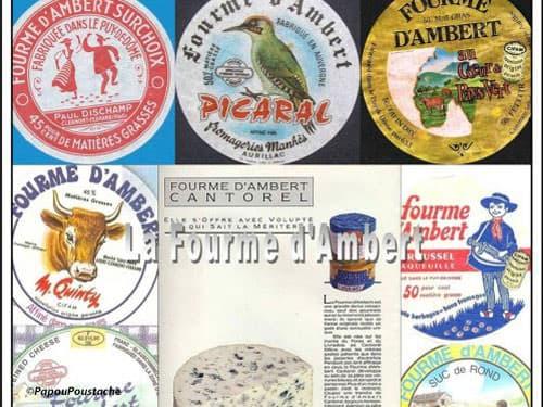 Fourme d'Ambert labels
