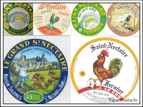 Saint Nectaire Cheese labels