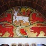 Eglise du Graal in Trehorenteuc - narthex