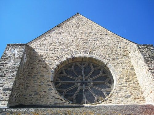 Paimpont Abbey church Rose window