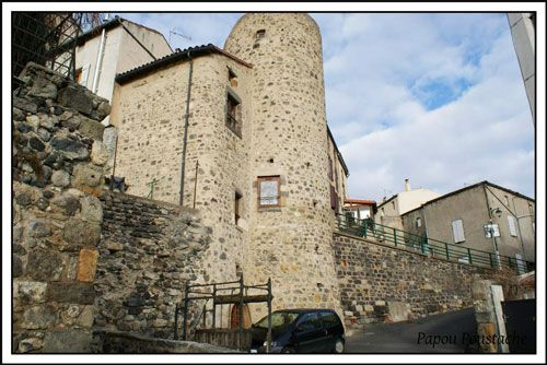 Circular tower of the former Commanderie de Monton