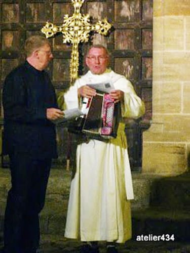 Sainte Foy Feast Day in Conques - The accordion playing priest