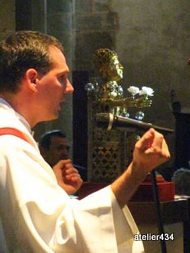 The homily on Sainte Foy Feast Day in Conques