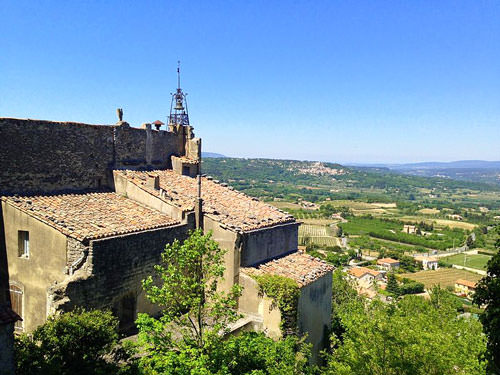 Valley seen from the Hotel de Rouville in Bonnieux