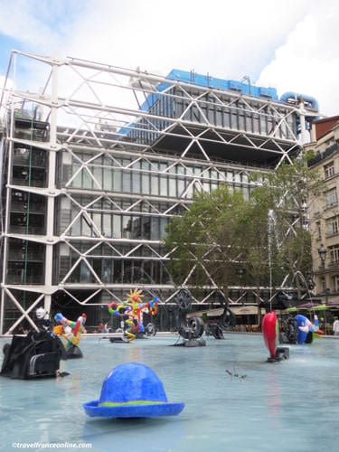 Stravinsky Fountain and Centre Pompidou