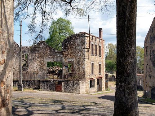 Ruined house in Oradour-sur-Glane