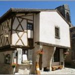 14th century half-timbered house in Charroux