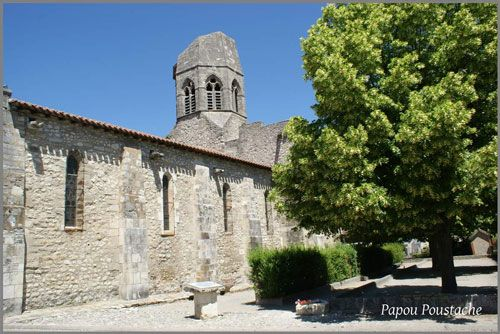St. Jean-Baptiste Church and its truncated bell tower in Charroux