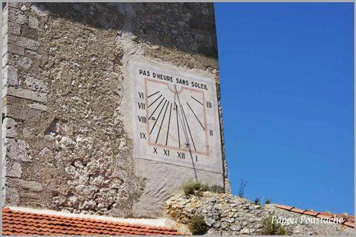 A sundial in Charroux
