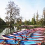 Boats on Lac Daumesnil in Bois de Vincennes