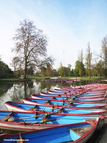 Boats on Lac Daumesnil in Bois de Vincennes