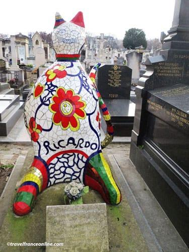 Montparnasse Cemetery - Le Chat by Nicki de St. Phalle