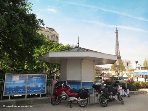 Entrance kiosk to Paris sewers on Quay d'Orsay by Pont de l'Alma