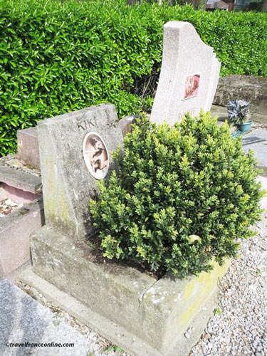 Cimetiere des Chiens - Monkey Kiki's grave