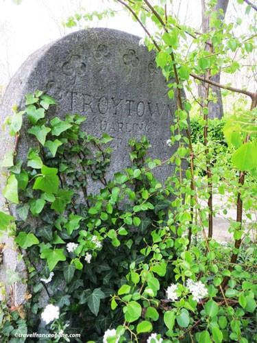Cimetiere des Chiens - Horse Troy's grave