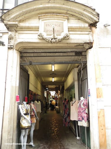 Passage du Ponceau Entrance on Rue St. Denis