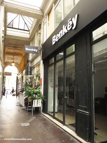 Passage du Ponceau - Original shops are located under the arched entrance