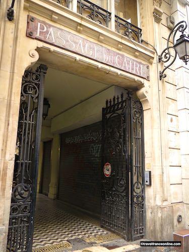 Passage du Caire entrance on square