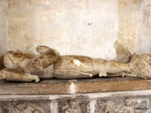 Tomb of Alzais Saunhac in Sainte Marie-Madeleine Church in Belcastel