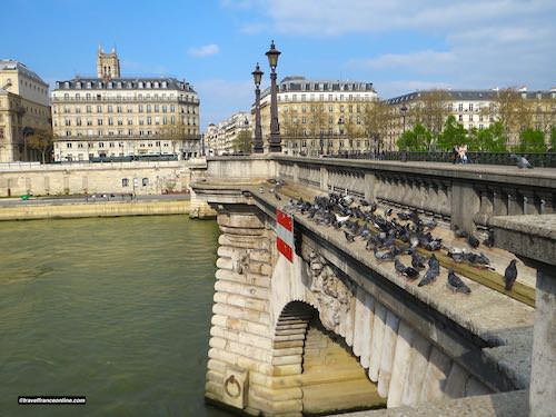 Pont Notre-Dame with Tour Saint-Jacques on Rive Droite in the background